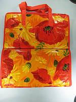 Хозяйственная сумка цветная  (50*55*25см) на змейке (12 шт)