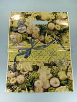 """Пакет Банан подарочный с прорезной ручкой  (29х37""""Нежность """"Ренпако (50 шт)"""