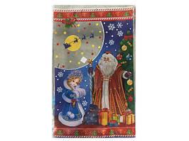 Фольгированный пакет Новый Год, (25*40) №22 Дед Мороз и Снегурочка, 100 шт\пач