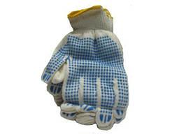 "Хозяйственные перчатки плотные (105) белая  ""A""кл (10 пар)"