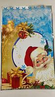 Упаковка для новогодних подарков, (25*40) №34 Дед Мороз и подарки, 100 шт\пач
