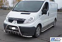 Защита переднего бампера (кенгурятник)  Renault Trafic (2001-14)