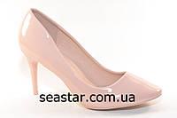 Туфли женские лаковые на шпильке