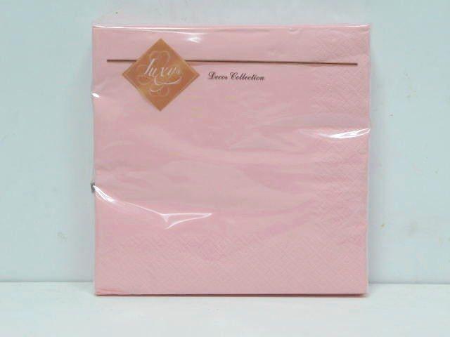 Салфетки бумажные праздничные сервировочные (ЗЗхЗЗ, 20шт) Luxy Розовая (3-10) (1 пач)