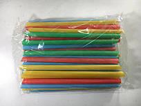 Трубочки для смузи коктейлей прямые  d9-19см  микс (Смузи 30х100) (100 шт)