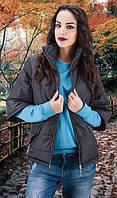 Женская куртка весна-осень черная