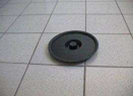 Крышка ведра п/э  10л черная (1 шт)