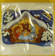 Салфетки праздничные новогодние (ЗЗхЗЗ, 20шт)  La FleurНГ Сказочная зима (130) (1 пач)