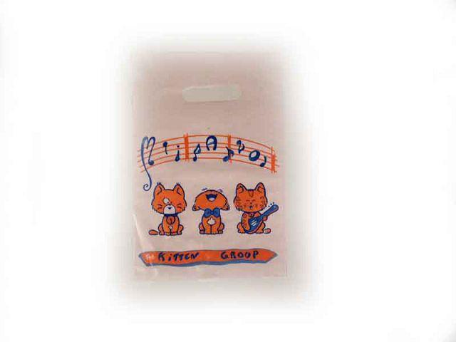 """Пакет полиэтиленовый подарочный маленький с вырубной ручкой (20*30) """"КОТИК """" ХВГ (100 шт)"""