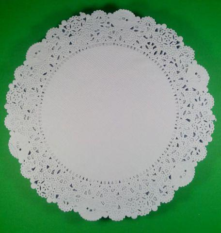 Салфетка кондитерская бумажная, диаметр 24.1 (250шт) (1 пач)