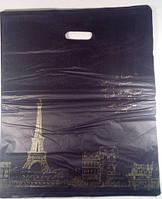 Пакет банан с прорезной(вырубной) ручкой подарочный (45*55) №14 китай (100шт)
