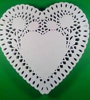 Салфетка кондитерская бумажная СЕРДЦЕ, диаметр 20,5 (250шт) (1 пач)
