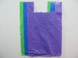 Пакет майка без рисунка Супер Багажка (50*80) Супер Торба (три цвета) (100 шт)