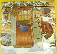 Салфетка (ЗЗхЗЗ, 20шт) LuxyНГ Рождество у порога (840) (1 пач)