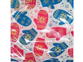 Бумажные салфетки 2-х слойные новогодние (ЗЗхЗЗ, 20шт)  La FleurНГ Рукавички   (210) (1 пач)