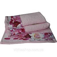Набор из 3-х махровых полотенец Романтика в подарочной упаковке 35х70 см, 50х90 см, 60х130 см, Нежность