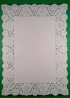 Салфетка ажурная бумажная, прямоугольные 19*26, 100шт\пач