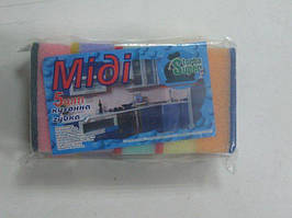 Mочалка для посуды средняя Супер торба ( Миди),  5шт\пач