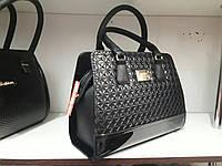 Лаковая женская сумочка черного цвета, фото 1