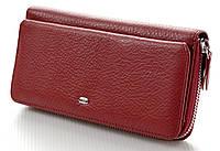 Женский кожаный кошелек клатч ST на молнии с визитницей
