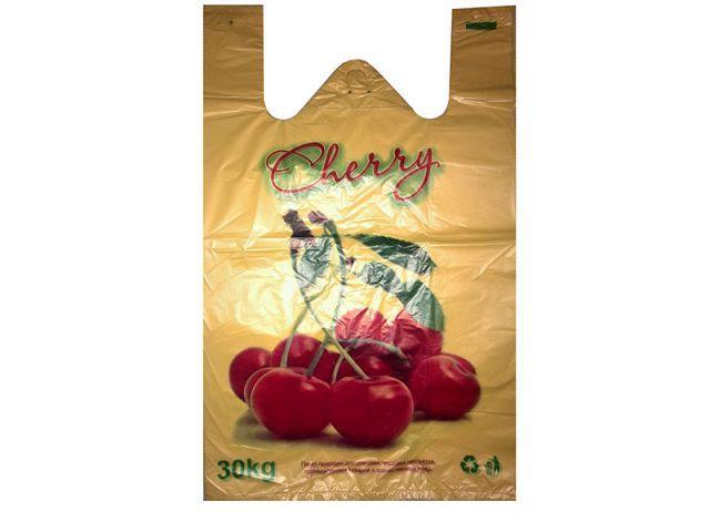 Пакеты майка с рисунком (30+2х8)х50) Вишня Кривой Рог (250 шт)
