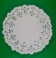 Ажурная салфетка круг, диаметр 10см, 100шт\пач