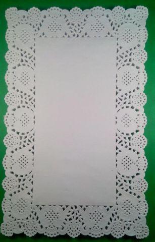 Салфетка кондитерская бумажная прямоугольная,  19*30(100шт) (1 пач)