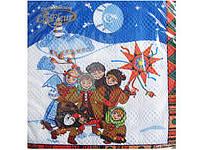 Бумажные салфетки на праздник (ЗЗхЗЗ, 20шт)  La FleurНГ Рождественские колядки 128 (1 пач)