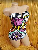Совместный купальник с цветочным принтом 11071, фото 1