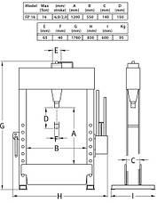 Пресс гидравлический  16 тонн с ножным пневматическим приводом, Compac, FP16, фото 3