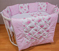 Роскошный комплект в кроватку для девочки, одеяло,защита, постельное , фото 2