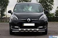 Кенгурятник  Renault Scenic (2013-15) / ус двойной, фото 1