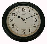 Настенные часы Rikon Quartz толстая рамка, черные