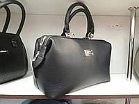 Женская сумка саквояж черного цвета
