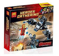 Конструктор Lele Heroes Gathering 79082 Железный Человек против Альтрона (аналог Lego Super Heroes 76029)