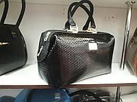 Большая сумка саквояж черного цвета