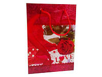 Пакет подарочный полиэтиленовый  (17*12*5,5), 12 шт\пач