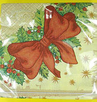 Салфетка праздничная цветная (ЗЗхЗЗ, 20шт)  La FleurНГ Помела (129) (1 пач)