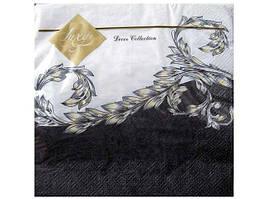 Салфетки бумажные с детским рисунком (ЗЗхЗЗ) Luxy  Классичная волна, 20шт\пач
