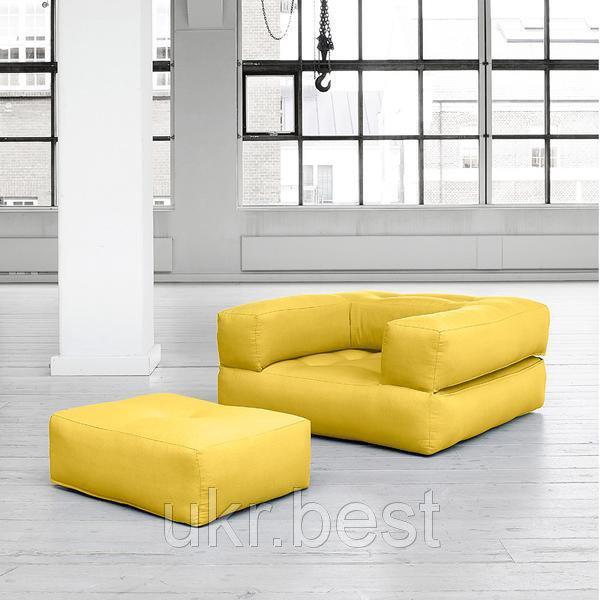 """Бескаркасное кресло и пуфик трансформер """"Классик"""" - раскладная кровать"""