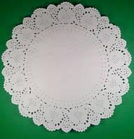 Салфетка кондитерская бумажная, диаметр 34,5 (100шт) (1 пач)