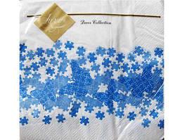 Салфетки  бумажные детские сервировочные (ЗЗхЗЗ) Luxy  Пазлы, 20шт\пач