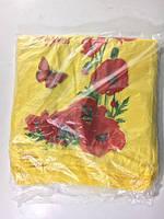 """Полиэтиленовый пакет майка с рисунком (29+2*7,5х50) """"Маки"""", 100 шт\пач"""