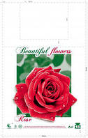 """Полиэтиленовые пакеты майка с рисунком прочные  """"Большая Роза""""(29*47), 250 шт\пач"""
