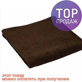Махровое полотенце коричневое 70х140 см / товары для ванной