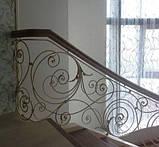 Ковані сходи, огородження сходів, фото 8