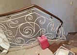 Ковані сходи, огородження сходів, фото 10