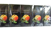 Носовые платочки с запахами Bonjour абрикос-липа, 10 шт\пач