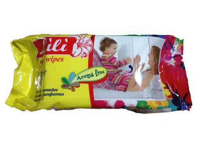 """Влажные салфетки для интимной гигиены,  Lili  """"Без запаха"""",  100 шт\пач -  Torba Super в Харькове"""