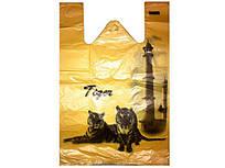 Пакети майка з малюнком (32+2х8)х50) Тигр Кривий Ріг (250 шт)